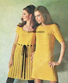 Vintage Villawool Womens Dress PDF Pattern