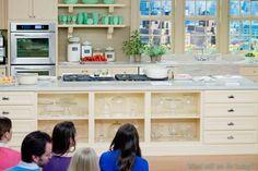 Martha Stewart Show Kitchen Set, Colored milk glass
