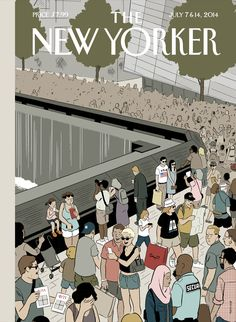 "The New Yorker - Monday, July 7, 2014 - Issue # 4551 - Vol. 90 - N° 19 - Cover ""Memorial Plaza"" by Adrian Tomine"