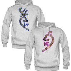 Browning Deer Love Couple realtree Hoodies ($85) ❤ liked on Polyvore featuring tops, hoodies, realtree hoodies, hoodie top, brown hoodie, brown tops and hooded sweatshirt