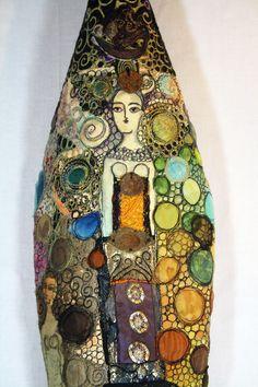 Sisters, detail 2012...Gordana Brelih Free Motion Embroidery, Free Machine Embroidery, Embroidery Applique, Tea Bag Art, Sculpture Painting, Textiles, Creative Artwork, Assemblage Art, Pattern Art