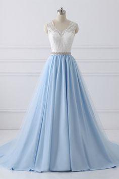 Customized Fine V-Neck Prom Dresses, Lace Prom Dresses, Prom Dresses Blue Wedding Dresses V Neck Prom Dresses, V Neck Wedding Dress, Cheap Prom Dresses, Prom Party Dresses, Cheap Wedding Dress, Party Gowns, Dresses For Teens, Evening Dresses, Dress Party