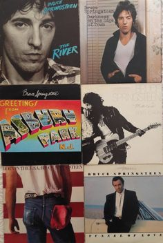 Bruce Springsteen Lot of to Run/Asbury Park/Darkness on Edge of Town/MORE Classic Rock Albums, Asbury Park, Born To Run, Bruce Springsteen, Darkness, Running, Movie Posters, Fictional Characters, Keep Running