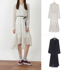 New Women Spring Casua Cute Dot Dresses Japanese/Korean Fashion #Unbranded #Flapper #Casual