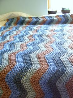 easy ripple afghan by cseneque, via Flickr