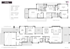 20 best Narrow Block Plans images on Pinterest   Floor plans, House ...