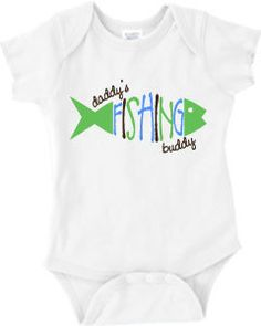Daddy's Fishing Buddy Baby Onesie or Boy's or Girl's T-Shirt 3 color on Etsy, $22.00