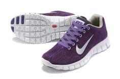 Sale Nike Free Run+ 3 Fur Womens Purple White Running Trainers