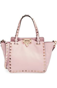 Valentino 'Mini Rockstud' Leather Tote available at #Nordstrom