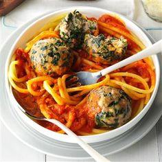 Spinach Turkey Meatballs Recipe from Taste of Home