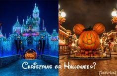Disneyland at Christmas or Halloween?-- definitely christmas :)