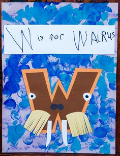 Walrus crafts for preschoolers alphabet letter x preschool activities and crafts w is for walrus my . Preschool Letter Crafts, Alphabet Letter Crafts, Abc Crafts, Preschool Projects, Preschool Crafts, Letter Art, Alphabet Book, Kids Crafts, Art Projects