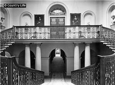 1924   The principal staircase at Wentworth Woodhouse. Not Used CL 04/10/1924