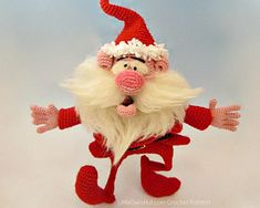 Santa Claus amigurumi by Little Owl's Hut.  I love her creations and her patterns!
