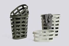 Hay and Big Game present a new take on the ubiquitous plastic basket that is used to store and transport laundry, to collect old newspaper or wood for the chimney, harvest apples from the tree, store toys or keep potatoes from the market. Stackable Laundry Baskets, Bathroom Laundry Baskets, Grey Laundry Basket, Laundry Room, Plastic Baskets, Large Baskets, Plastic Laundry Basket, Basket Lighting, Kartell