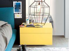 Mesa-de-cabeceira de madeira com gavetas Coleção Abbinabili by Poliform
