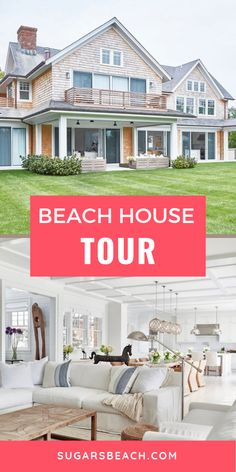 See inside this beautiful beach house! Check out the beach themed decor and design ideas and tips in the kitchen, bathroom, bedrooms, living room, patio and even pool! This home is the perfect family getaway! Beach House Tour, Beach House Decor, Small Basin, Beautiful Beach Houses, Beach Bathrooms, House Inside, Coastal Decor, House Tours, House Styles