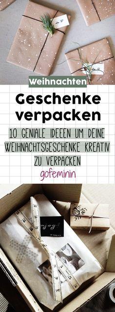Günstig & genial: Die 10 besten Ideen, um deine Geschenke kreativ zu verpacken #geschenke #verpacken
