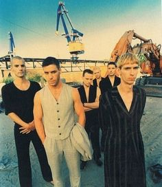 Rammstein. Oh my gosh! Look how young they were!