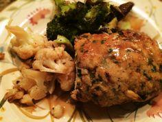Paleo Meatloaf, Broccoli, And Cauliflower: 6/4/14