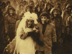 Due to high sulfur levels, inhabitants of the Izu Islands had to wear gas masks to survive. What results? Some of the scariest wedding photos ever. i want my wedding to look this badass/scary