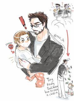 Spiderman: Homecoming || Tony Stark,Peter Parker (Child)