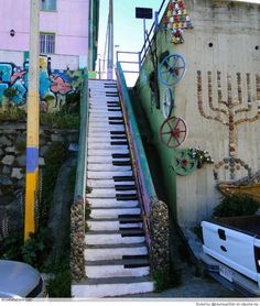 Love the piano stairs. A great example of street art. Love the piano stairs. A great example of street art. Love the piano stairs. A great example of street art. Graffiti Kunst, Graffiti Artwork, Street Art Graffiti, Street Art Utopia, 3d Street Art, Music Graffiti, Street Art Quotes, Graffiti Quotes, Banksy Art