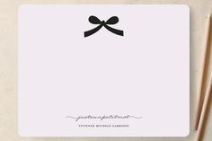 Paris + Vintage Ribbon Personalized Stationery by Emily Ranneby at minted.com