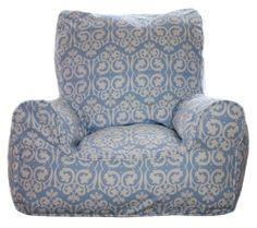Blue Damask Chair