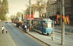 Haltestelle Bahnhof 1. Oktober 1988 | Foto: Ralf Großkopp, Chemnitz