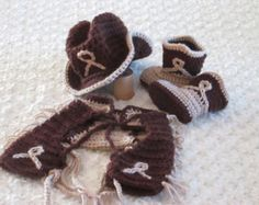 Cowgirl Hat Boots Chaps & Diaper Cover Set by HannahsHomestead2