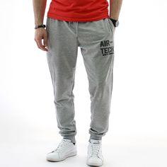 #Мъжки #спортен #панталон AIR-TECH #gray в #сив цвят, с два предни джоба без ципове и един заден, с еластан в състава за по-голям комфорт при носене.