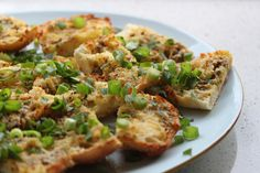Garlic Cheesy Crostini - Cooking with Tenina