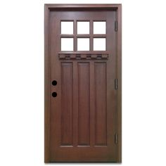 Steves & Sons 36 in. x 80 in. Craftsman 6 Lite Stained Mahogany Wood Prehung Front Door - - The Home Depot Craftsman Interior Doors, Craftsman Front Doors, Exterior Doors, Pantry Interior, Craftsman Houses, Rustic Exterior, Wood Entry Doors, Barn Doors, Sliding Doors