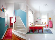 this fun Danish house that I found via Marie Claire Maison.