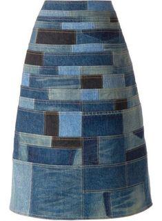 Patchwork clothes fashion ideas denim skirts 58 Ideas for 2019 Vintage Skirt, Vintage Denim, Denim Fashion, Fashion Clothes, Patchwork Denim, Estilo Jeans, Mode Jeans, Denim Ideas, Denim Crafts