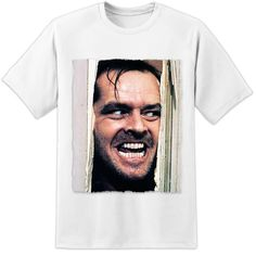 "THE SHINING MOVIE - STANLEY KUBRICK JACK NICHOLSON ""DOOR"" T SHIRT - (S - 3XL) 2017 Summer Men'S T-SHIRT Brand Clothing O-Neck #Affiliate"