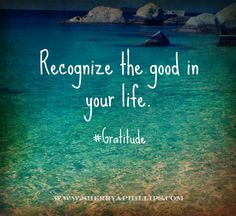 Recognize the good in your life! #Gratitude #Abundance If you are ready for a life of wellness, purpose and abundance, please visit my site at http://www.yldist.com/sherryaphillips and start your journey on my team today!