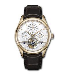 Master Grande Tradition Tourbillon à Quantième Perpétuel  ref. 500242A   Watches, men's watches, time, Jaeger-LeCoultre, tourbillon, perpetual calendar, moon phase
