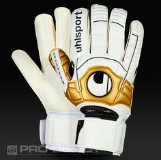 Uhlsport Ergonomic Soft R F - White   Black   Gold 3de75efbd
