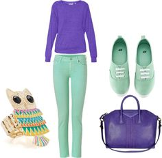 Purple and Teal, created by bombaloo on Polyvore