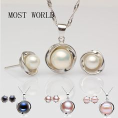 Find More Jewelry Sets Information about Women Jewelry Set Fashion Cheap Pearl For Brides Maids White Pink Purple Black 925 Sterling Silver Chain Women Jewelry Set,High Quality set tent,China set football Suppliers, Cheap set dye from MOST WORLD PEARL on Aliexpress.com