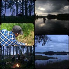 Thank you Wild Sweden for an eventful and adventurous canoe safari out on Icksjön, Dalarna last night