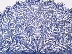 Le Paon Bleu Lace shawl by Lefted Knits Creations