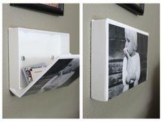 Cool picture frame & hidden storage!