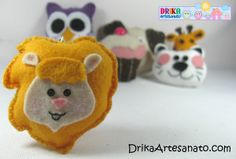Artesanato em feltro: chaveiros com moldes - Drika Artesanato - O seu Blog de Artesanato.