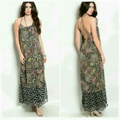S,M,L Sheer lined Bohemian maxi dress S, M, L available! Gorgious sheer layer in this beautiful print. Perfect for outdoor wedding! Free gift with purchase!!!! Dresses Maxi