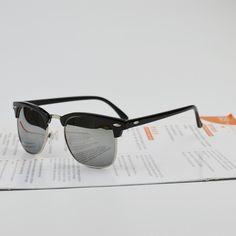 High Quality Half Metal Sunglasses Men Women Brand Designer Glasses Mirror Sun Glasses Fashion Gafas Oculos De Sol UV400 Classic Just look, that`s outstanding! #shop #beauty #Woman's fashion #Products #Classes