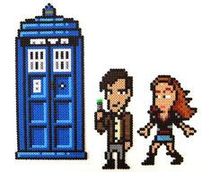 Doctor Who perler beads by Arcade Art