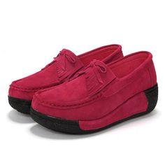 Rocker Sole sapatos mulheres deslizamento no esporte sapatos de corrida casual de lona - US $ 27.99